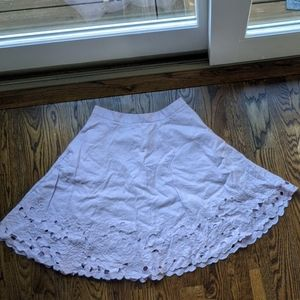 Ann Taylor Embroidered Swing Skirt Size 6